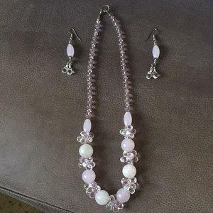 Rose quartz & crystal set from Hawaii